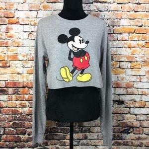 NWOT Disney Mickey Mouse Long Sleeve Crop Top